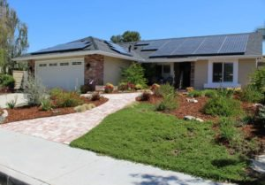 House with solar on roof