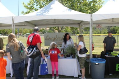 Songbird Landscape Design Booth with People