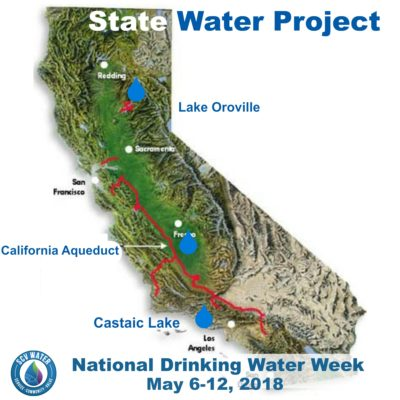 SCV Water: Drinking Water Week - Day 1 - California State Water Project Map